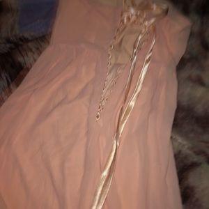 long pink dresss